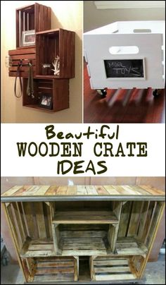 How would your repurpose an old wooden crate?
