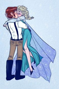 It looks like they drew Hans in Fiyero's clothes Disney Animation, Disney Pixar, Walt Disney, Disney Characters, Fictional Characters, Disney Kiss, Disney Couples, Elsa And Hans, Prince Hans