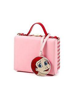 HIGH CHEEKS Color Block Trunk Bag Pink #disney #highcheeks #ariel #mermaidlife
