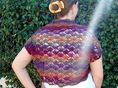 Crochet - sonata shrug 1 skein (free pattern) #crochet #shrug
