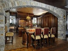 stone archway into kitchen - Google Search