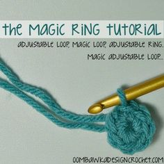 How to make a Magic Ring Oombawka Design Crochet