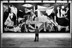 "The Museo Reina Sofia, in Madrid, Spain, home of Pablo Picasso's ""Guernica"" masterpiece, 1995. Photo by © Elliott Erwitt / Magnum Photos.Follow: Love-Spain"