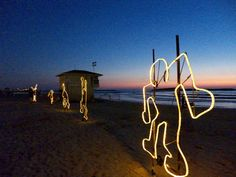 gordon beach, tel aviv Tel Aviv, Neon Signs, Beach, The Beach, Beaches