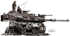 Beast at Rest (Israeli Merkava MK 4 Tank) by shank117 on DeviantArt