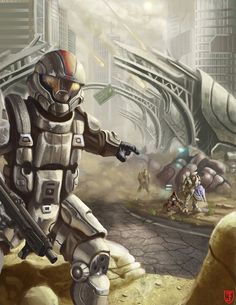 Needless to say, anytime you're painting Halo it's a good time. Odst Halo, Halo 2, Alien Soldier, Halo Armor, Halo Series, Halo Game, Master Chief, Pokemon, Halo Reach
