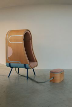 Graduate designer Alexia Audrain has developed a chair with cocooning, inflatable walls that helps people with autism self-soothe when they are experiencing sensory overload.