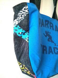 OKA BAG BlueBlack // 100 Handmade // by LuckyCatCollective