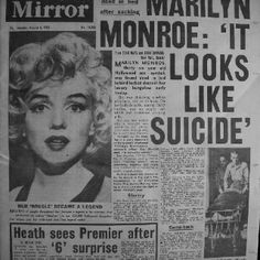 Marilyn Monroe Newspaper Headline