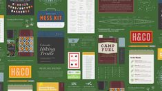 """""""Trail Mix"""" - Twenty-seven typographic adventures for the great outdoors by Hoefler & Co."""