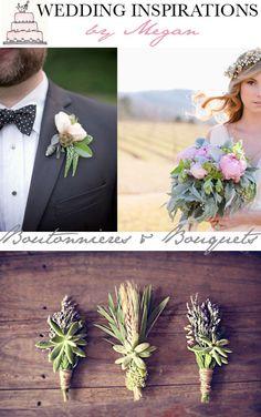 {Wedding Inspirations} Boutonnières & Bouquets