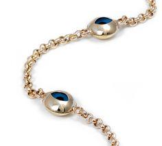 14K Gold Evil Eye Good Luck Bracelet