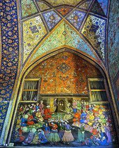 Chehel Sotoun Palace, (40 Columns Palace), Esfahan , Iran, UNESCO World Heritage Site (Persian: کاخ چهل ستون در اصفهان) Photo credit: Milica Grujic