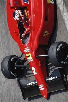 MANSELL (FERRARI 641/2) Ferrari F1, Ferrari World, Real Champions, Nigel Mansell, Sand Rail, Alfa Romeo Cars, Game Room Design, F1 Racing, Automotive Art