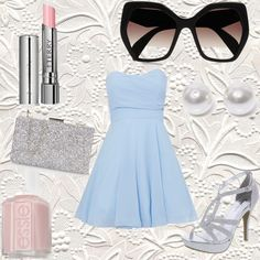 Summer party by bluelavendel on Polyvore featuring polyvore, beauty, Essie, By Terry, Prada, Nouv-Elle and TFNC