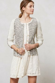 Glimmered Tweed Jacket #anthropologie