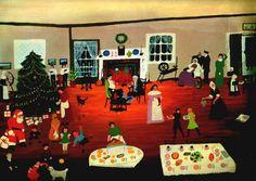 grandma moses paintings | Christmas at Home - Grandma Moses - WikiPaintings.org
