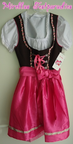 My first dirndl is so beautiful and sweet in pink.