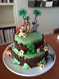 21+ Exclusive Image of Jungle Birthday Cake Jungle Birthday Cake Jungle Book Birthday Cake Cakes Pinterest Birthday Jungle #DiyBirthdayCake