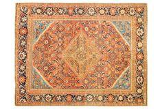 Antique Sultanabad Rug, 9' x 11'. 4,985