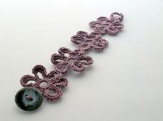 -Lilac Flower Crochet Bracelet Funky Jewelry by imynda on Etsy ...