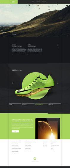 Free PSD website template - Modern Website Design