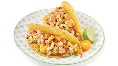 Tartare de saumon, de mangue et de fromage tortillon