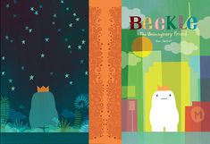 The case design for 'Beekle' by Dan Santat. Recommended by Andrea Beaty, author of ATTACK OF THE FLUFFY BUNNIES & FLUFFY BUNNIES 2.