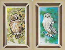 Vintage Swap / Playing Cards - 1 PAIR - 'CHRI' OWLS
