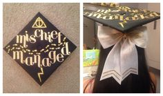 This is my graduation cap!  I'm obsessed with Harry Potter, can you tell?