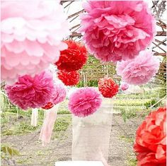 Tissue Paper Flowers Paper Pom Poms Balls Party Decor Craft Wedding Birthday Baby Shower Party Decoration Size 5 6 8 10 12 Inch #Affiliate