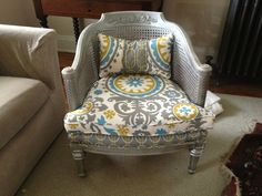Reupholstered chair-too much