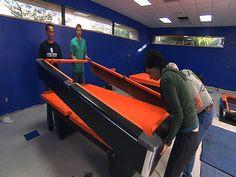 DIY re-felting pool table