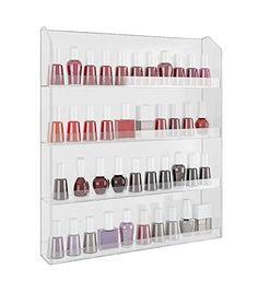 Home-it Acrylic Wall Rack Organizer Holds up to 40 Bottles Nail Polish nail polish holder nail polish storage