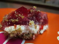 Strawberry Pretzel Salad from janelle at Comfy in the Kitchen **Thinking of switching out with raspberries and raspberry jello. Or Craisins and cranberry jello? ~ I like the raspberry idea. : )