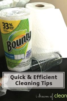 When a spill occurs, nothing is faster at wiping away the mess like Bounty Paper Towels. Check out these tips on how to Clean your Home Efficiently to help save you time when it comes to kitchen disasters!