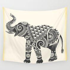 Boho Ornamental Elephant Wall Tapestry  #elephant #tapestry #wallart #homedecor #interiordesign #blogger