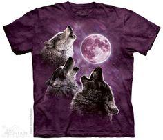 3860 Three Wolf Moon In Purple