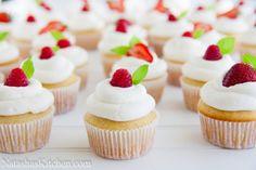 Perfect (and pretty) Vanilla Cupcakes | Natashaskitchen.com