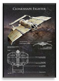 Cloakshape Fighter Poster Star Wars Ship by PatentPrintsPosters