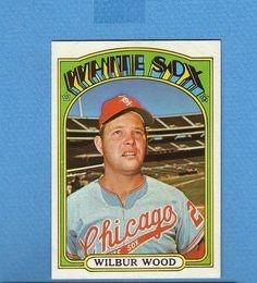1972 TOPPS BREAK 553 WILBUR WOOD WHITE SOX NM/MT+