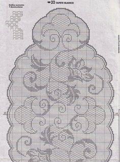 Hobby lavori femminili - ricamo - uncinetto - maglia: centro ovale