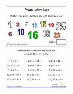 Best Mathfactors Multiples Prime Composite Images  Math  Worksheets Practice With Prime Numbers Prime And Composite Numbers Prime  Numbers Teaching Math