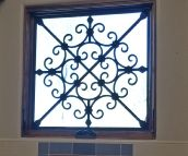 Tableaux Faux Iron Window #115
