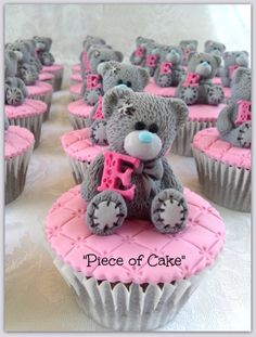 Tatty Teddy Cupcakes Are Perfect For A Surprise Baby