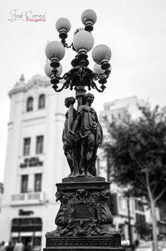 Detalle del centro historico de Lima, Peru