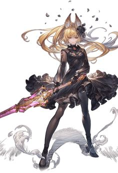 World of Our Fantasy Fantasy Character Design, Character Concept, Character Art, Anime Art Fantasy, Fantasy Artwork, Granblue Fantasy Characters, Warrior Concept Art, Rwby Characters, Anime Warrior