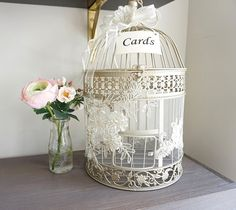 Hey, I found this really awesome Etsy listing at https://www.etsy.com/listing/243045011/birdcage-card-holder-elegant-money-box