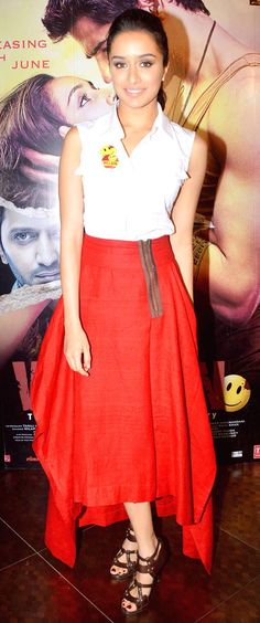 Shraddha Kapoor at an event to promote her film 'Ek Villain'. #Style #Bollywood #Fashion #Beauty