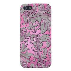 Unique, fashionable, trendy and pretty iPhone 5 case with image of vintage floral pattern design on violet and pink background. Made for the lover of flowers, antique art deco, classic victorian decor or art nouveau style. Cute and fun present for mom's birthday, Mother's day, Christmas gift, the girly girl, or those who want a classy, chic and cool phone cover. Also available for iPhone 3 and 4, Samsung Galaxy S2 and S3, iPod Touch, and Motorola Droid Razr.